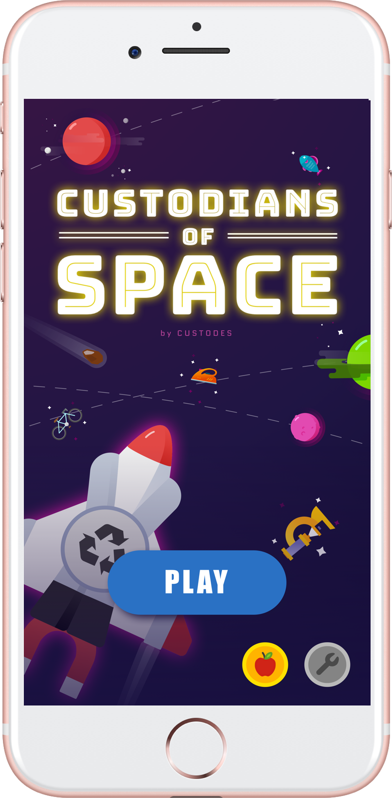 Mockup of the game in iPhone